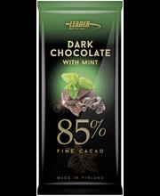 Leader Dark Choco 100g Hieno mintunmakuinen 85 % tumma suklaa