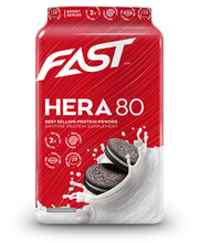 FAST Hera80 600 g Cookies&Cream makuinen heraproteiinijauhe