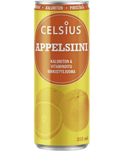Celsius 355 ml appelsiini