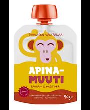 Apina Muuti 90g Banaani & Mustikka smoothie luomu