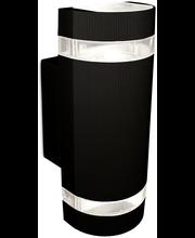 Sessak Oiva ulkoseinävalaisin IP44 2-osainen musta