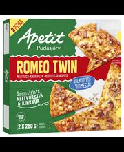 Apetit 2x280g Pizza Romeo Twin Meetvursti-kinkkupizza