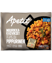 Apetit 500g Muurikka-kasvikset Pehmeän pippurinen maustettu kasvissekoitus pakaste