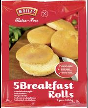 Moilas 5kpl/400g Gluteeniton aamiaissämpylä pakaste