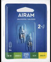 Airam 20W 12V G4 Halogen JC 2kpl