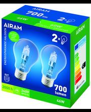 Airam 46W Halo ES A55 2-pack E27 700lm 2800K 240V