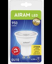 Airam Led 6,5W/827 GU10 PAR16 kohde 480lm himmennettävä