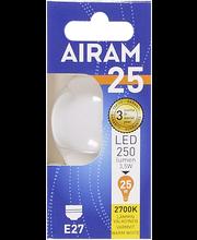 Airam led 3,5W koriste opaali E27 250lm 2700K
