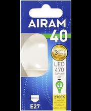 Airam LED 6W koriste opaali E27 470lm 2700K