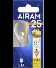 Airam led 2W mainos filamentti E14 250lm 2700K