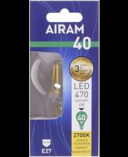 Airam led 4W vakio filamentti E27 470lm 2700K