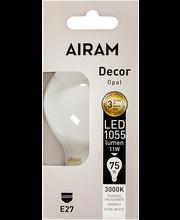 Airam led 11W vakio full glass E27 1055lm 3000K