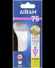 Airam led 12W vakio opaali E27 1060lm 2700K himmennettävä