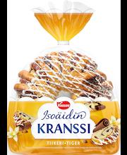 VAASAN Isoäidin Tiikerikranssi 400 g suklaa-vaniljatäytepullakranssi