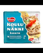 VAASAN KOULUNÄKKI Kaura 220g Täysjyväkaura- ja ruisnäkkileipä