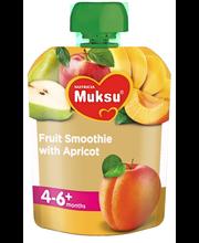 Muksu 80g aprikoosinen hedelmäsmoothie 4kk