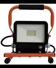 Electrog 20W led työvalaisin telineellä ip44 2xpistorasia