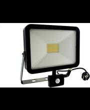 Harju Classic 50W led- valonheitin liiketunnistimella musta IP44