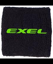 Exel rannenauha musta/neon vihreä