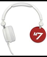 Macs M7 Redrum sankakuuloke mikrofonilla, valkoinen