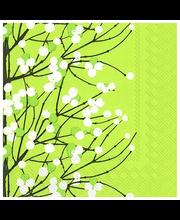 Marimekko Lumimarja 20kpl vaaleanvihreä servietti