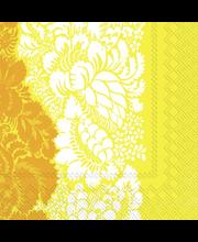 Marimekko Ananas 20kpl keltainen servietti
