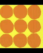 Marimekko Kivet 20kpl keltainen servietti