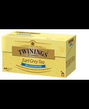 Twinings 25x2g Earl Grey tea kofeiiniton tee