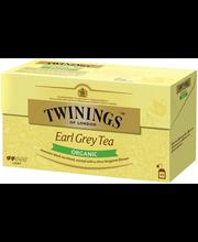 Twinings 25x2g Earl Grey Luomu tee