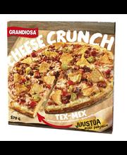 Grandiosa Cheese Crunch 570g tex-mex pizza, naudanjauhelihaa ja nacholastuja