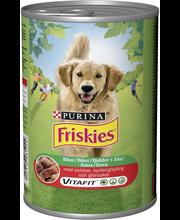 Friskies 1200g Naudanlihaa, Kanaa ja Kasviksia kastikkeessa koiranruoka