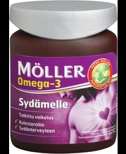 Möller 94g/76kaps sydämelle omega-3-rasvahappo-E-vitamiinikapseli ravintolisä