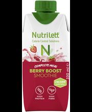 Nutrilett 330 ml Berry Boost 30 % vähemmän sokeria Smoothie ateriankorvike
