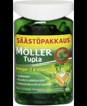 Möller 144g Tupla säästöpakkaus omega-3-vitamiinikapseli ravintolisä