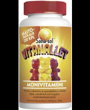 Sana-sol Vitanallet pehmeä ja pureskeltava monivitamiinivalmiste 120kpl