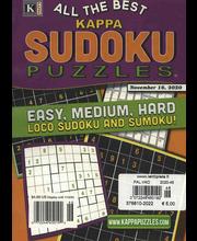 Blue Ribbon Kappa Sudoku Ristikot