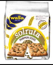 Wasa 265g Solruta Pumpkin Seeds näkkileipä leipomotuote jossa kurpitsansiemeniä