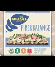 Wasa 230g Fiber Balance näkkileipä täysjyvärukiista valmistettu runsaskuituinen leipomotuote