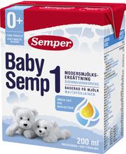 Semper BabySemp1 200ml käyttövalmis maitopohjainen äidinmaidonkorvike syntymästä alkaen