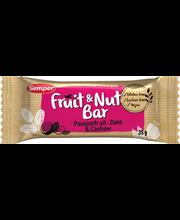Semper 35g Fruit&Nut Bar taatelipatukka passiohededelmää cashewpähkinää