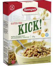 Semper 375g Kick! natural gluteeniton kauramuromysli