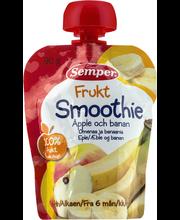 Semper 90g Smoothie Frukt omenaa ja banaania alkaen 6 kk täyshedelmäsose