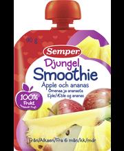Semper 90g Smoothie Djungel omenaa ja ananasta alkaen 6 kk täyshedelmäsose