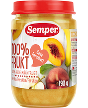 Semper 190g 100% Hedelmää persikka alkaen 6 kk hedelmäsose