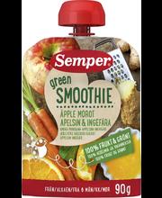 Semper 90g Green Smoothie omena porkkana appelsiini inkivääri alkaen 6 kk