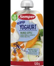 Semper Mango Omena Jogurtti 120g, Jogurttihedelmäsose alkaen 12 kk