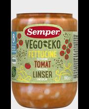 Semper Vego EKO Luomu fettucinea, tomaattia ja linssejä 190g alkaen 8kk lasten luomuateria