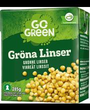 GoGreen 285g Vihreät Linssit