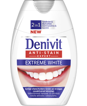 Denivit 75ml 2in1 Extreme White hammastahna+suuvesi