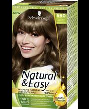 Schwarzkopf Natural & Easy 590 Ebenpuu Musta hiusväri